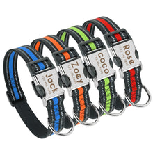 Load image into Gallery viewer, Luna Personalised Dog Collar Nylon Engraved - Dog Nation