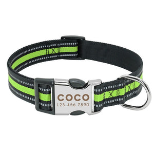 Luna Personalised Dog Collar Nylon Engraved - Dog Nation