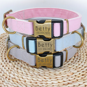 Personalised Nylon Dog Collar Custom Engraved