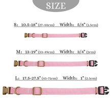 Load image into Gallery viewer, Personalised Nylon Dog Collar Custom Engraved
