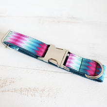 Load image into Gallery viewer, The Green Peacock Personalised Dog Collar Handmade Laser Engraved - Dog Nation