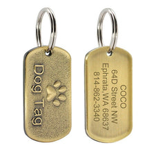 Load image into Gallery viewer, Personalised Military Style Thick Dog ID Tag Stainless Steel