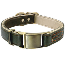 Load image into Gallery viewer, Luxury Genuine Leather Dog Collar