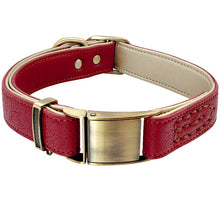 Load image into Gallery viewer, Luxury Genuine Leather Dog Collar - Dog Nation