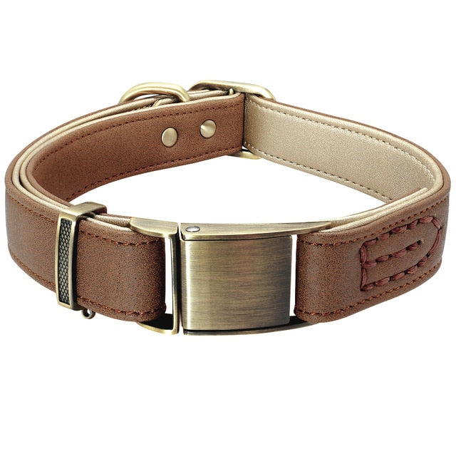 Luxury Genuine Leather Dog Collar