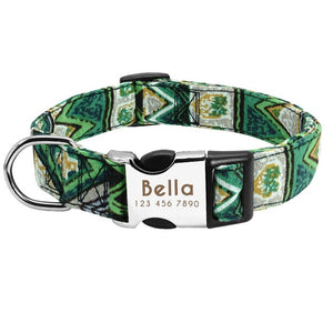 Personalised Dog Collar Nylon Adjustable Engraved For Small & Large Dogs - Dog Nation
