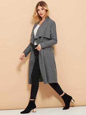 Self Tie Solid Coat