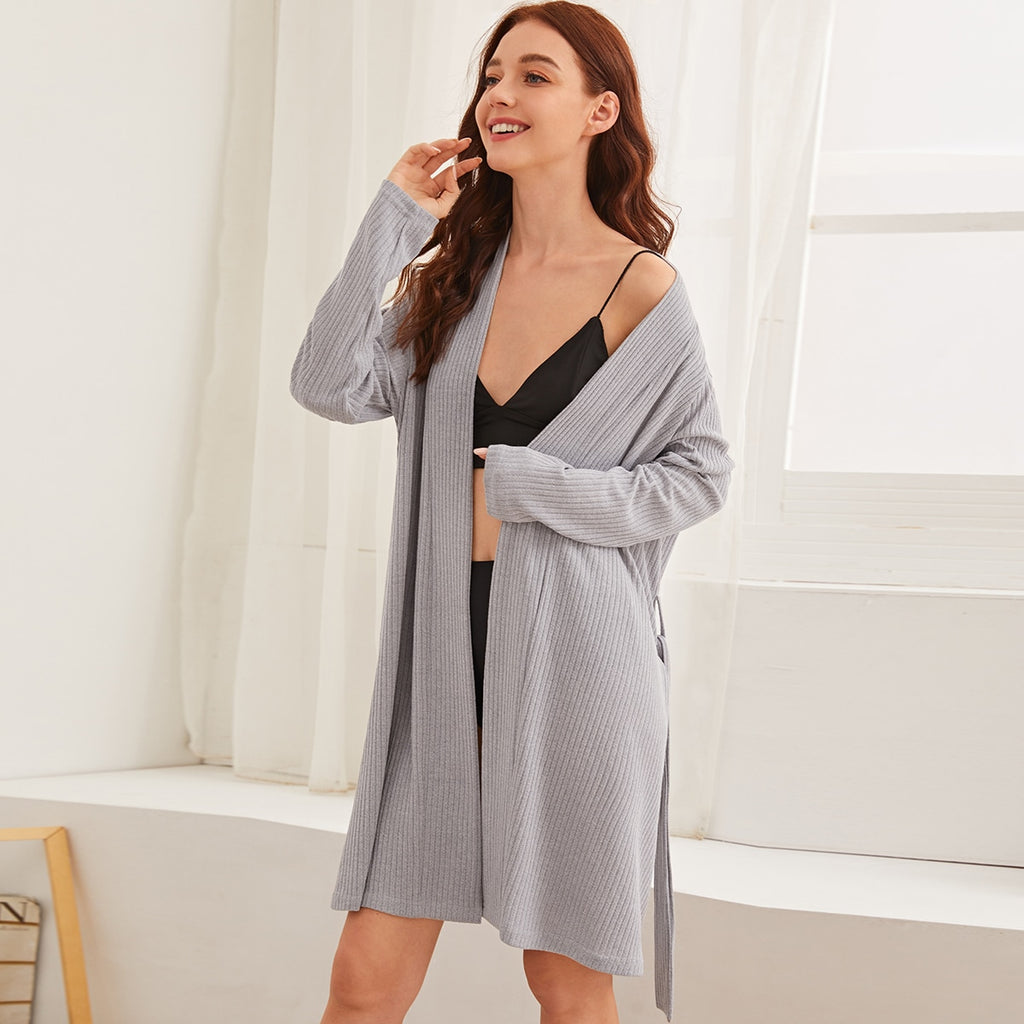 Textured Belted Robe