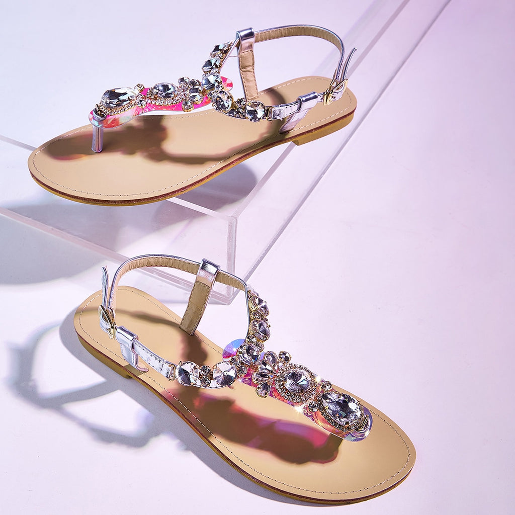 Toe Post Jewelled Sandals