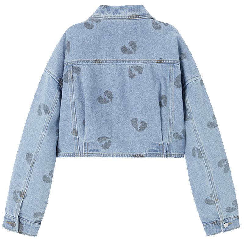 Women Streetwear Denim Jeans Coat