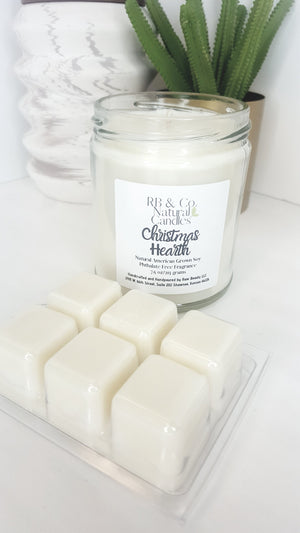 Christmas Hearth Natural Soy Candle | Hand-Poured and Hand-crafted