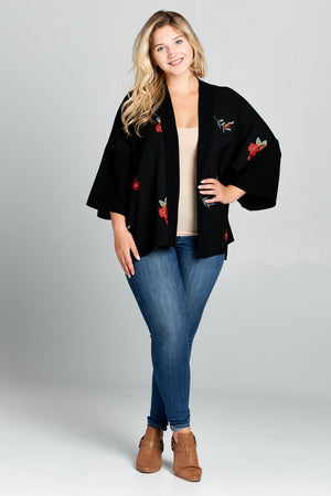 Short Length Open Cardigan - Plus Size