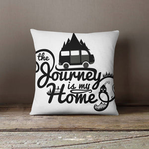 Journey is my Home Black Pillowcase | Decorative