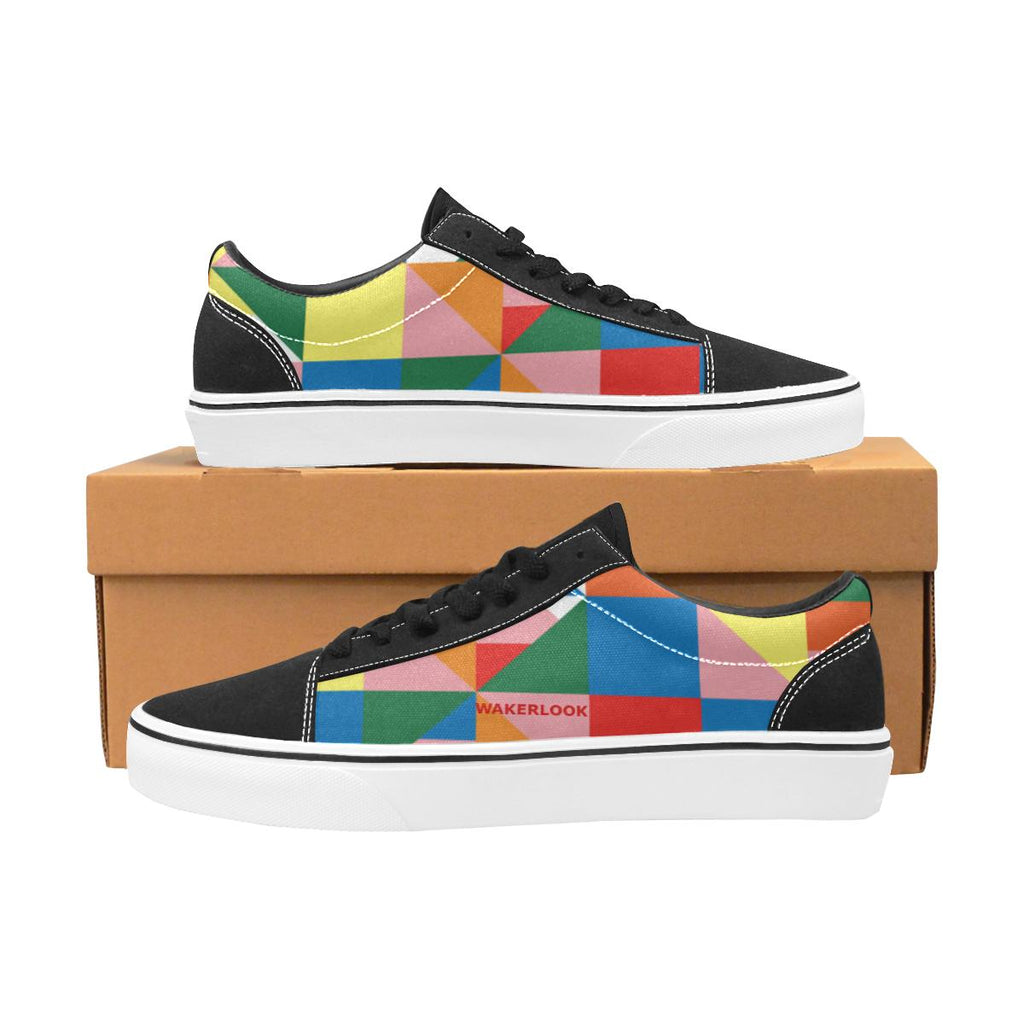 Triangle abstract Men's Lace-Up Canvas Shoes