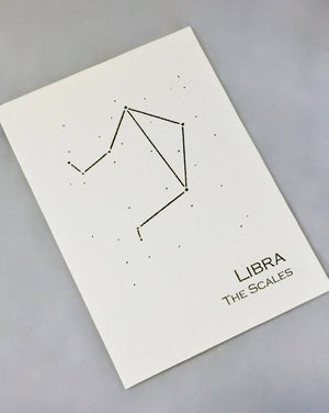 Libra Constellation Zodiac Art Print