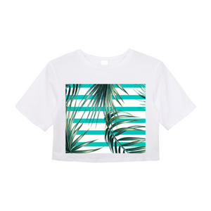 Palm Leaves Women's Crop Top