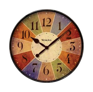 Westclox  12 in. L x 12 in. W Indoor  Casual  Analog  Wall Clock