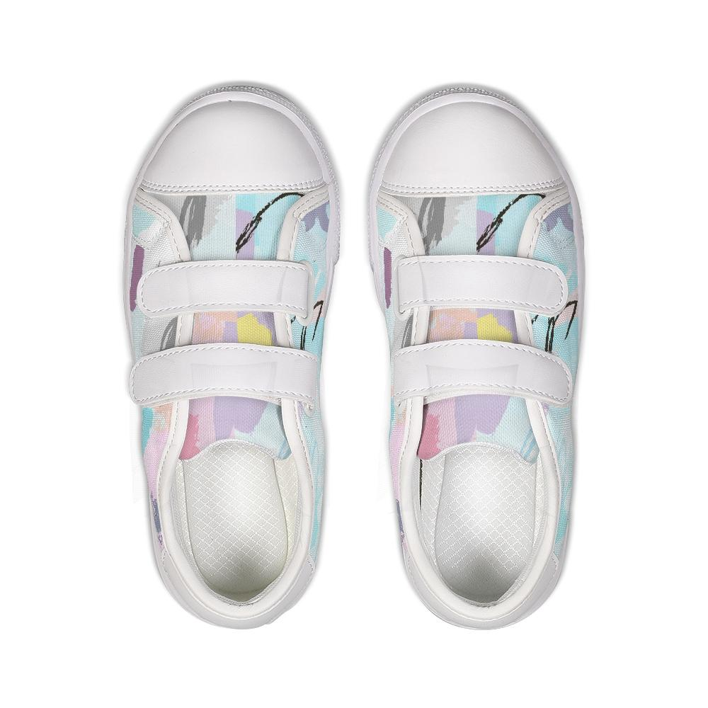 Abstract Doodle Kids Velcro Sneaker