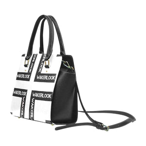 White Classic Wakerlook Shoulder Handbag