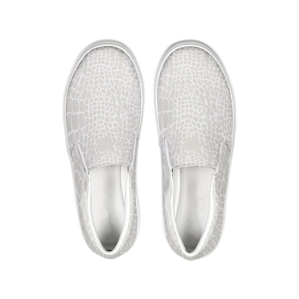 Alligator Print Slip-On Canvas Shoe