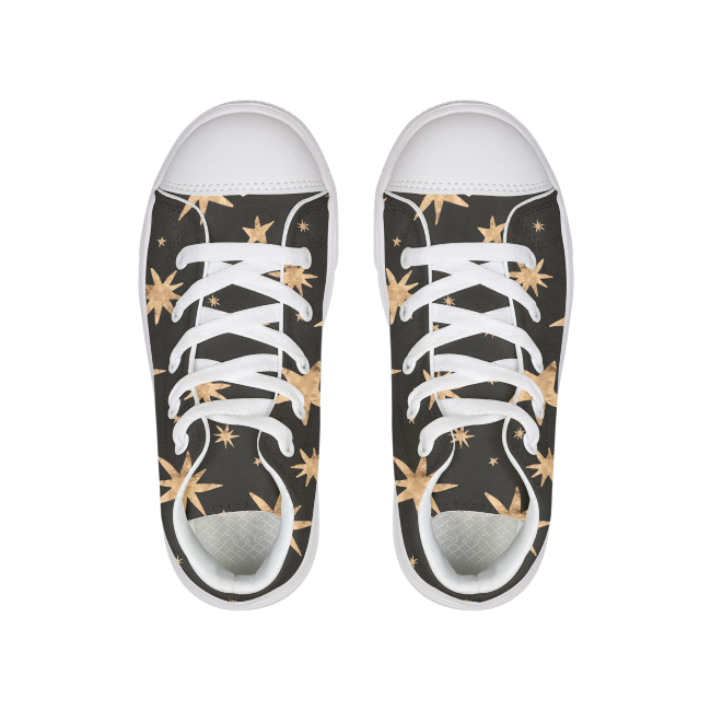 GOLD STARS Kids Hightop Canvas Shoe