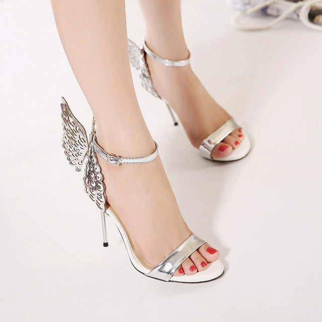 Fashion Women Sandals High Heel Shoes Sandalias