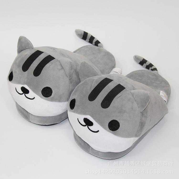 Winter Warm Indoor Slippers Cute Plush Cartoon for Unisex