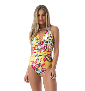 BORA BORA HALTER ONE PIECE SWIMSUIT
