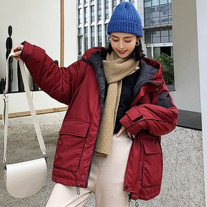 Space Cotton Padded Coat Women Winter
