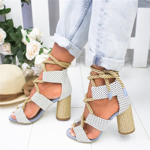 Summer High Heels Fashion Color