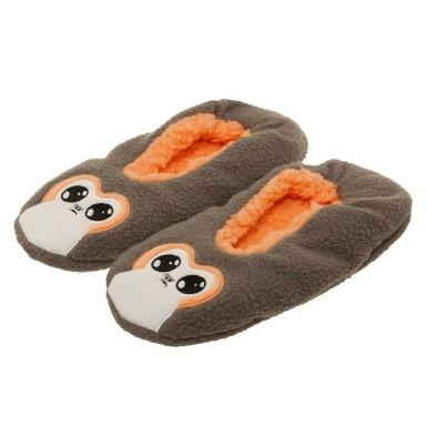 Star Wars Porg Applique Soft Sherpa Slippers - L/XL