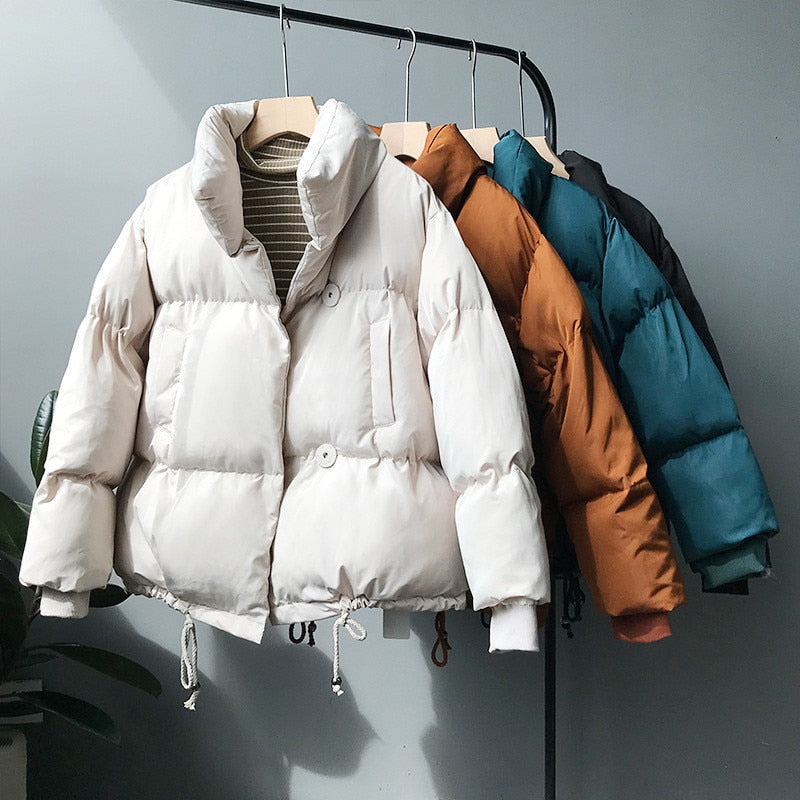 Women's Winter Jackets And Coats Solid Warm Thick