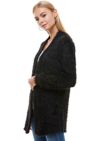 Shaggy Loose Fit Long Cardigan