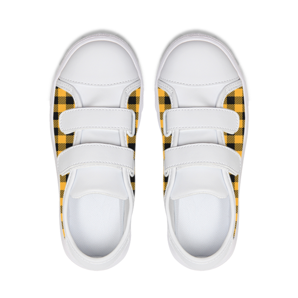 Plaid Kids Velcro Sneaker