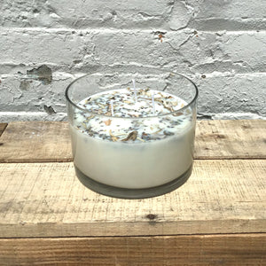 Lavender + White Sage Aromatherapy 3 Wick Large Soy Wax Candle