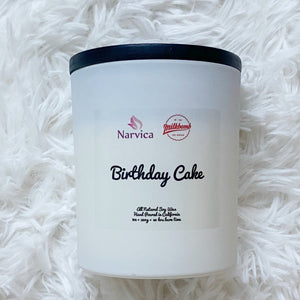 Birthday Cake Scented Soy Candle BDay Gift