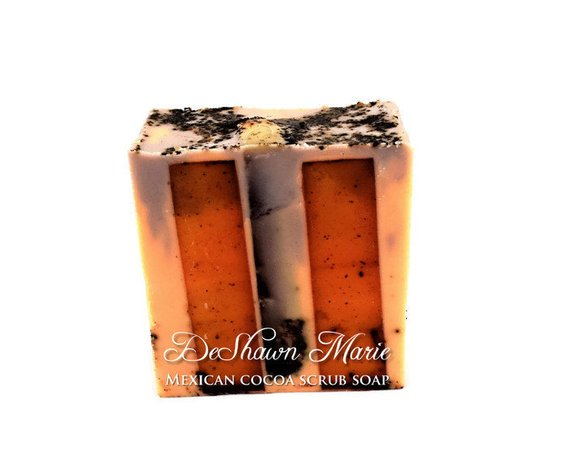 SOAP Mexican Cocoa Soap Coffee Scrub Soap Handmade