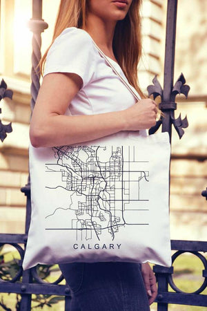 Calgary Map Canada Gifts Canadian Art Calgary