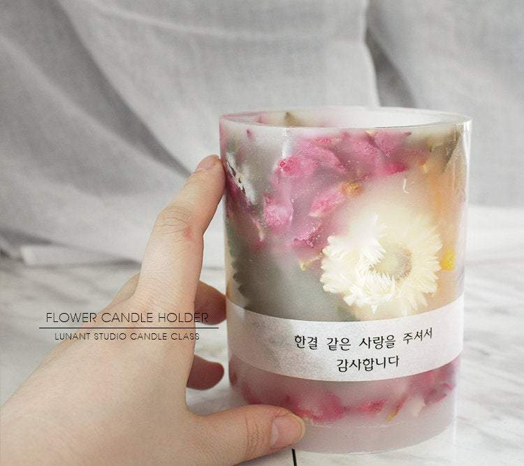 Dried Flower Candle Holder