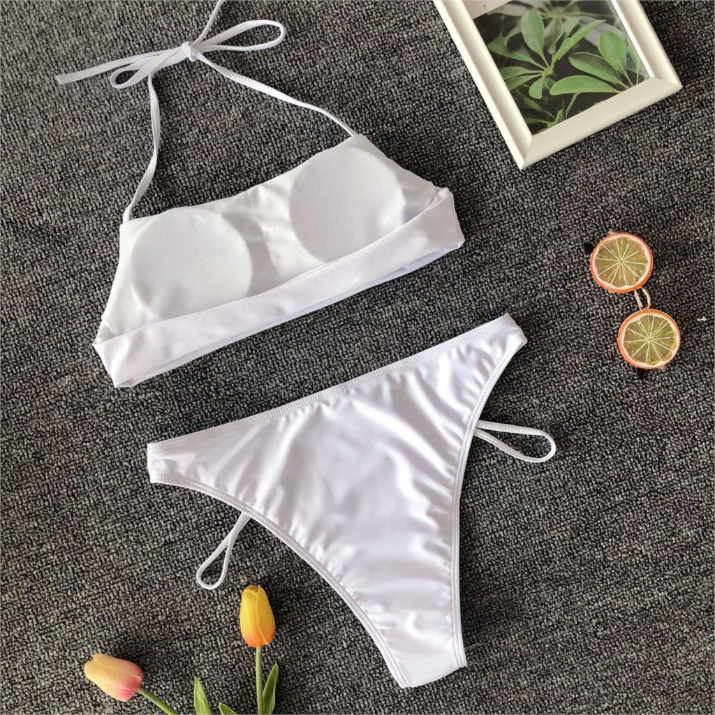 Back Lace Up Bikini Set Swimming Suit Women High Quality Two Piece