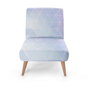 Geometric Pearl Print Accent Occasional Chair