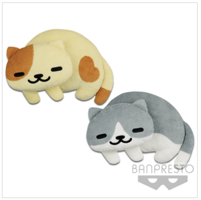 Banpresto NEKOATSUME SOFT PLUSH CUSHION PEACHES AND RASCAL