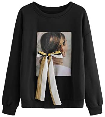 Women's Tie Knot Front Graphic Sweatshirt