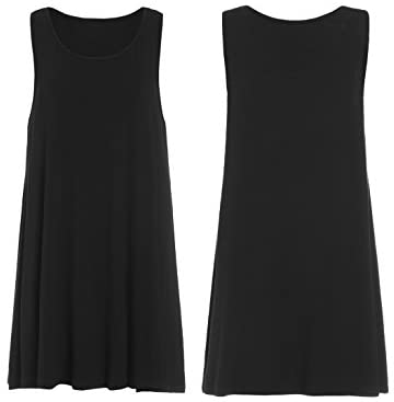 Women's Tank Dress Sleeveless Summer Loose Casual Swing T-Shirt Dresses