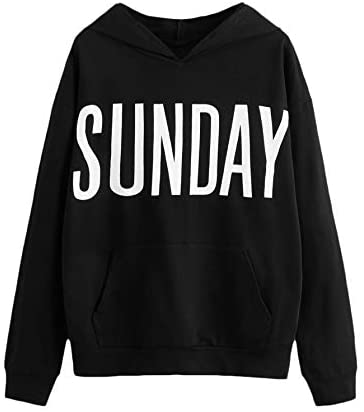 Women's Casual Long Sleeve Hoodies Star Embroidery Drawstring Kangaroo Pocket Sweatshirt