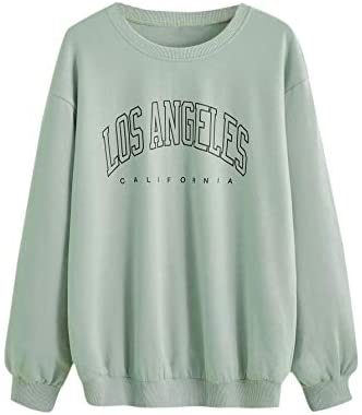 Women's Letter Graphic Print Crewneck Long Sleeve Sweatshirt Pullover