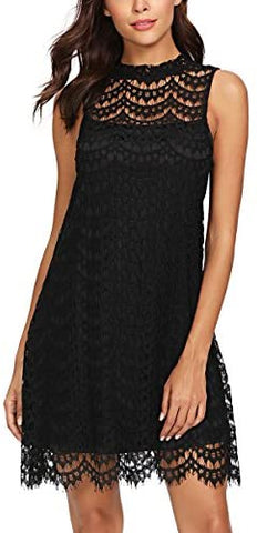 Women's Lace Sleeveless A Line Elegant Cocktail Evening Party Dress