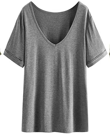 Women's Summer Short Sleeve Loose Casual Tee T-Shirt