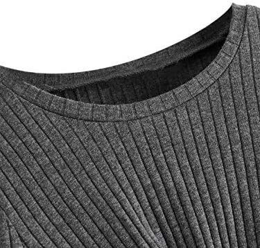 Girl's Cute Rib Knit Long Sleeve Twist Front Crew Neck Slim Fit Crop Tee Top Blouse