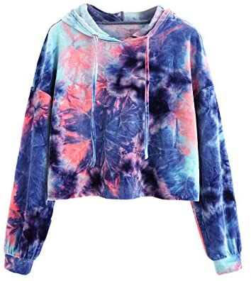 Women's Velvet Drawstring Long Sleeve Hoodie Crop Top Sweatshirt